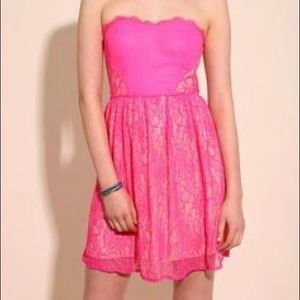 Urban outfitters pink lace sweetheart dress